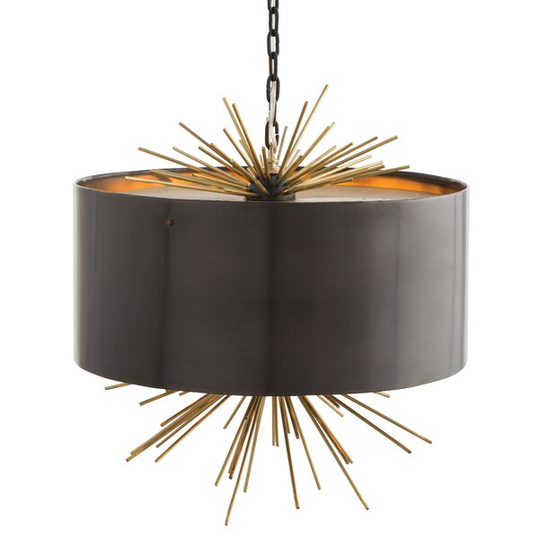 Quimby 3 - Light Shaded Drum Chandelier by ARTERIORS ARTERIORS
