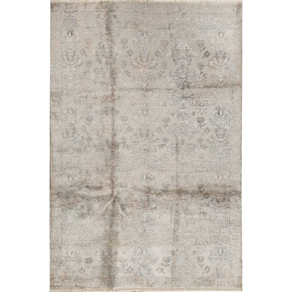 Windsom Oriental Hand-Knotted Beige Area Rug