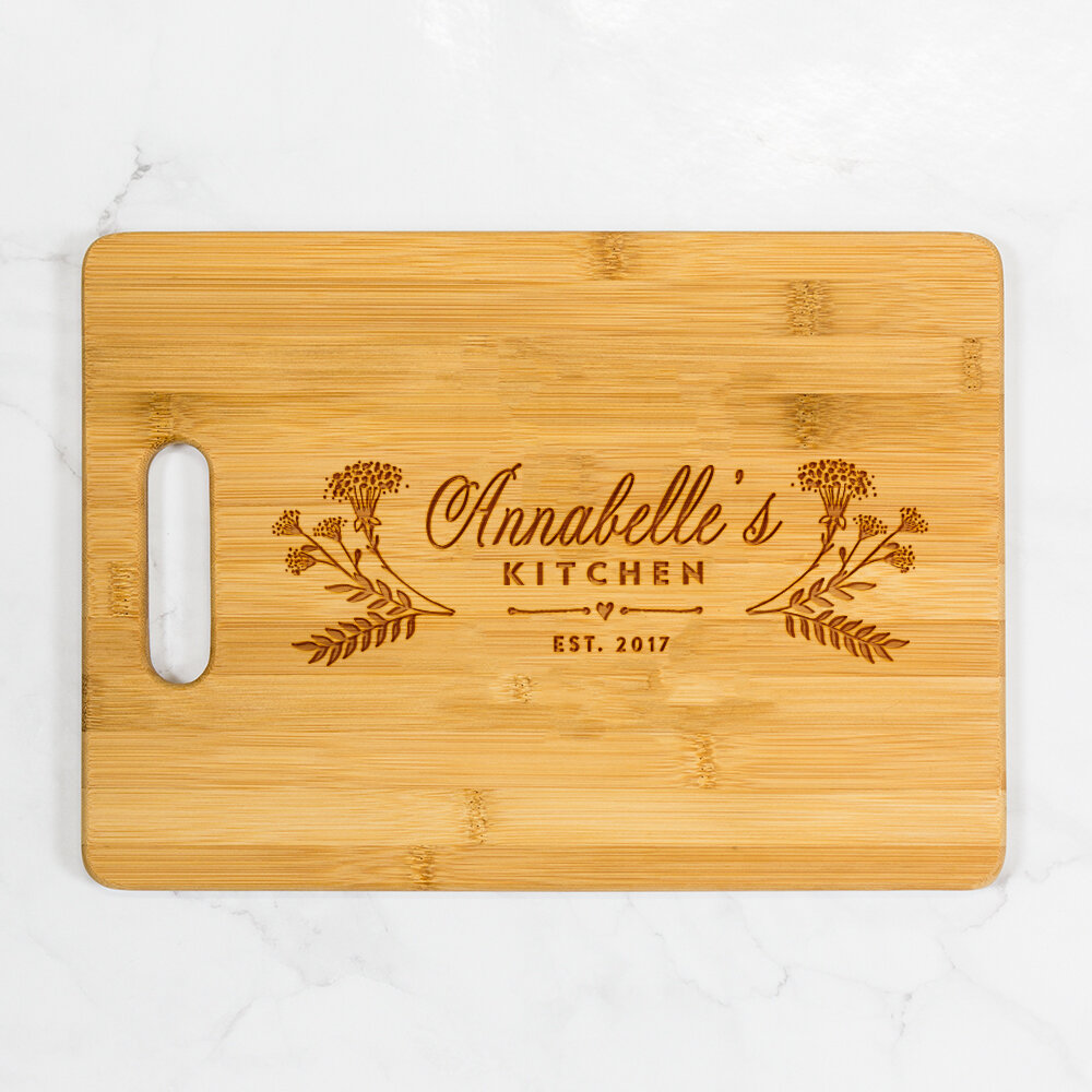 Personalized Laser Engraved Wood Plate Bar Block Nameplate for Baby Kids Room