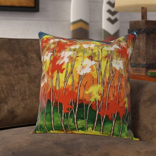 Brookfield Floral Outdoor Throw Pillow by Loon Peak