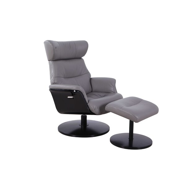 Peppino Manual Swivel Recliner with Ottoman W003022655