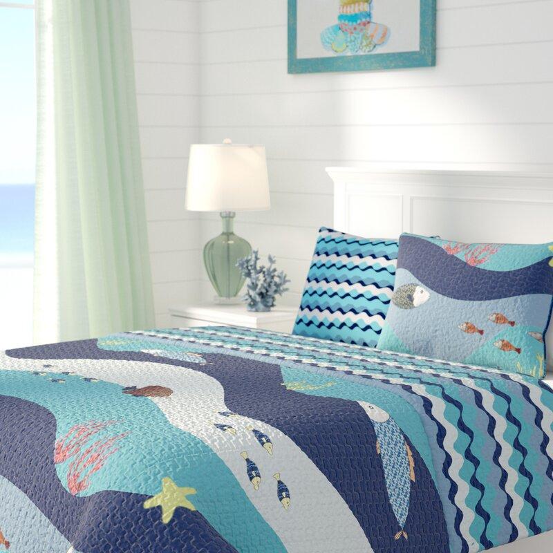 Beachcrest Home New Haven Cotton Reversible Quilt Set
