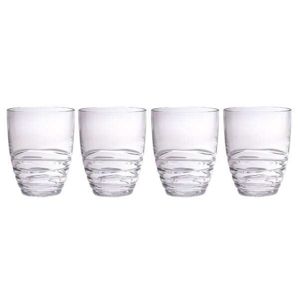 Mesa 15 oz. Acrylic Double Old Fashioned Glass (Set of 4) by Chenco Inc.