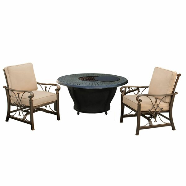 Owego 3 Piece Seating Group with Cushions by Darby Home Co Darby Home Co