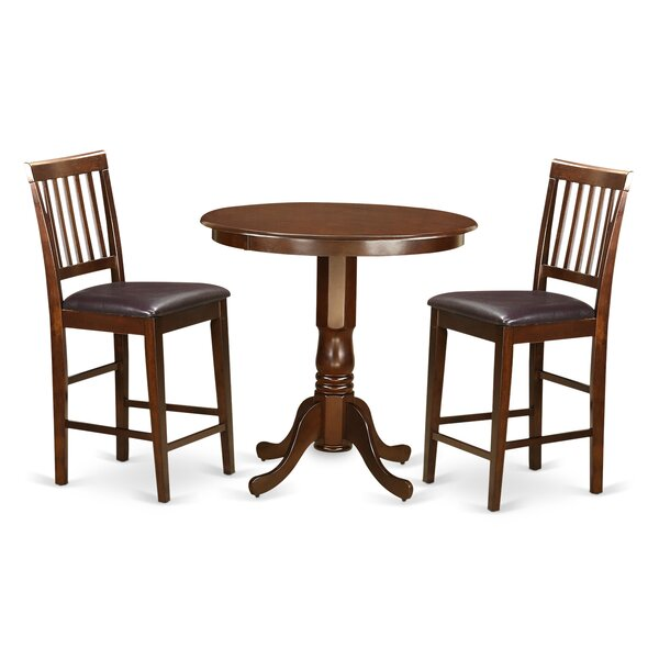 Jackson 3 Piece Counter Height Pub Table Set by Wooden Importers Wooden Importers