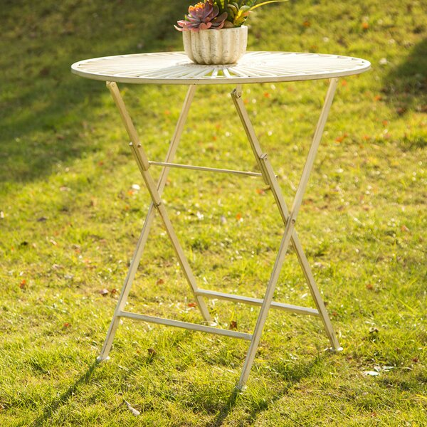 Outdoor Folding Metal/Iron Bistro Table by Glitzhome