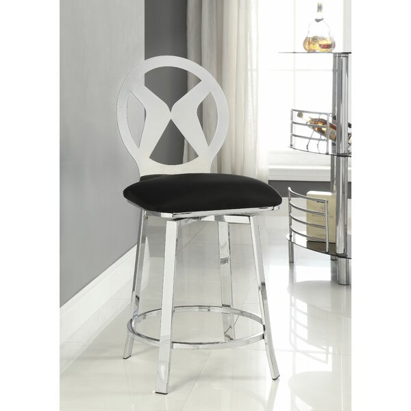 Forshee Swivel Bar Stool by Latitude Run