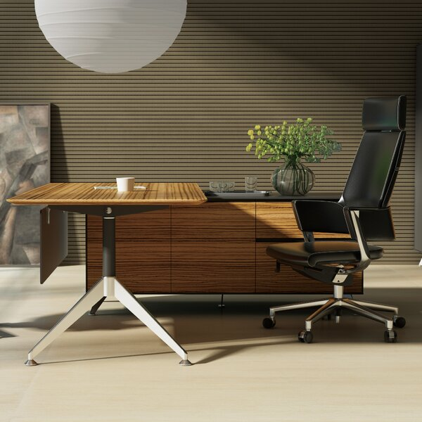 Berna Collection L-Shape Desk by Symple Stuff