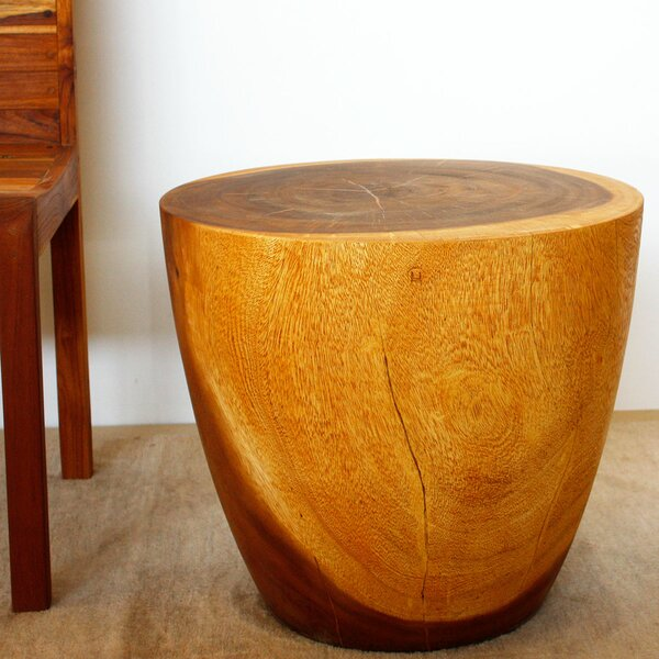 Seliga Drum End Table by Union Rustic