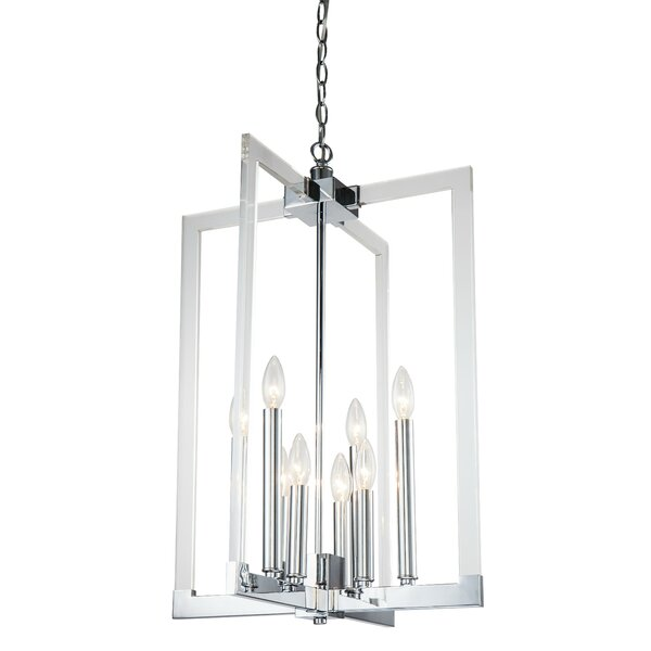 Juin 7-Light Candle Style Square / Rectangle Chandelier By Rosdorf Park