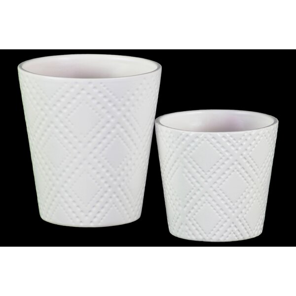 Zenaida 2-Piece Ceramic Pot Planter Set by Ivy Bronx