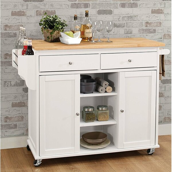 Kulikowski Wheeled Kitchen Island by Alcott Hill