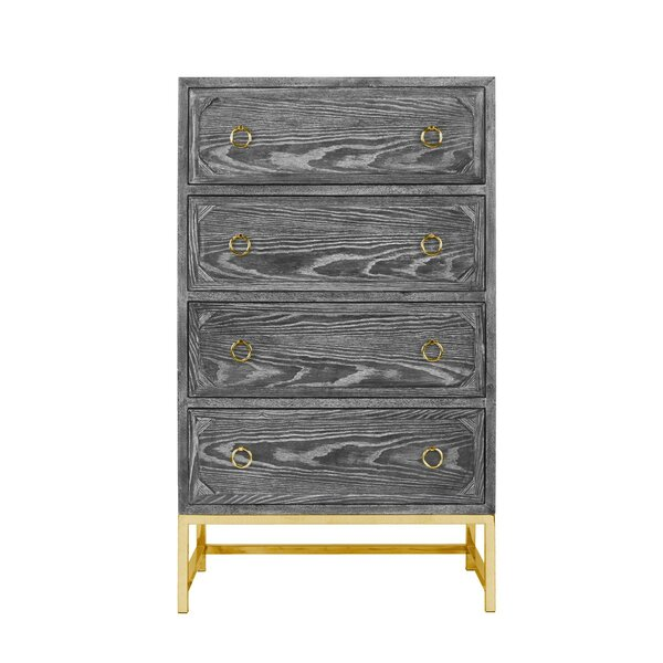 Upright 4 Drawer Dresser by Worlds Away