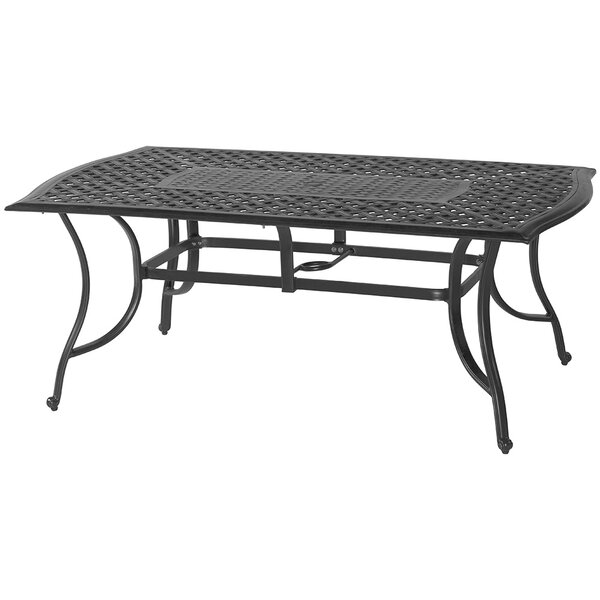 Harmony Metal Dining Table by Darby Home Co