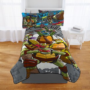 Multi Color 40 x 50 Nickelodeon Teenage Mutant Ninja Turtles Good Guys Leo Fleece Throw Blanket in Pocket Set