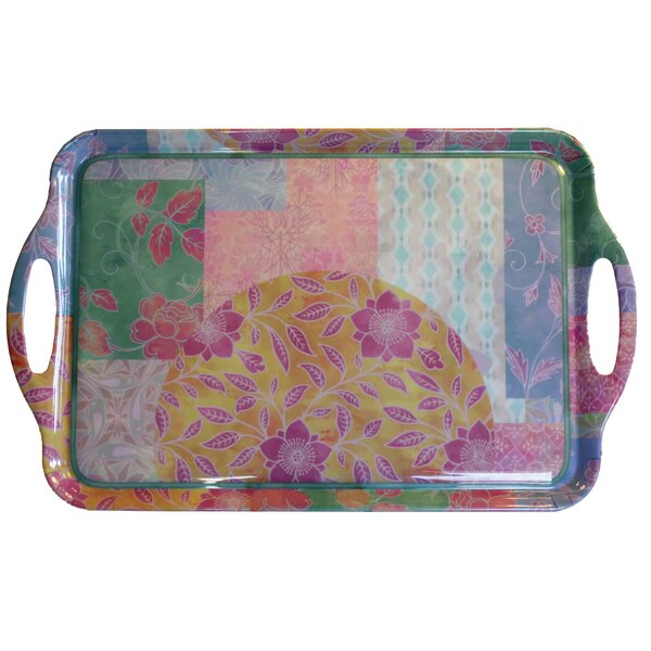 Flower Decor Serving Tray by MotorHead Products