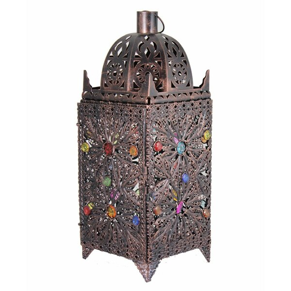 Sophisticated Designed Antique Metal Lantern by World Menagerie
