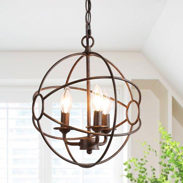 Candide 3-Light Lantern Globe Pendant by Brayden Studio Brayden Studio