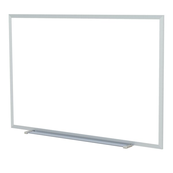 Ghent Magnetic Painted Steel Whiteboard with Aluminum Frame by Ghent
