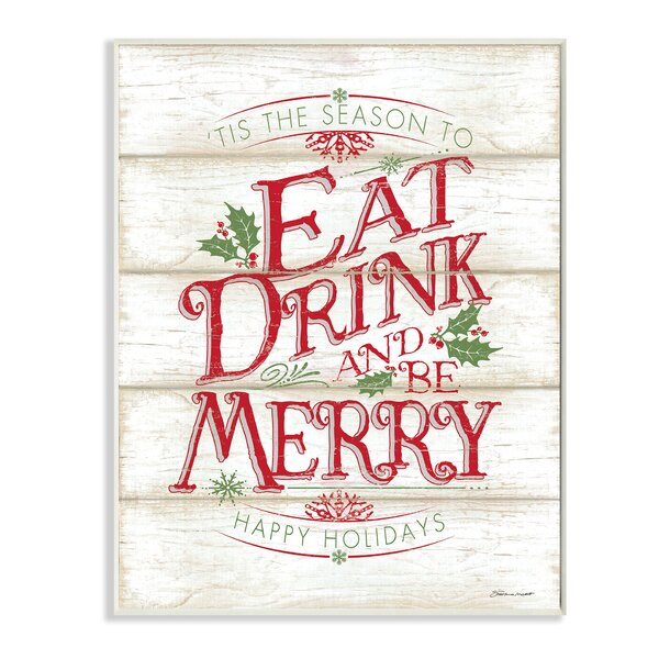 Eat Drink and Be Merry Textual Art by Stupell Industries