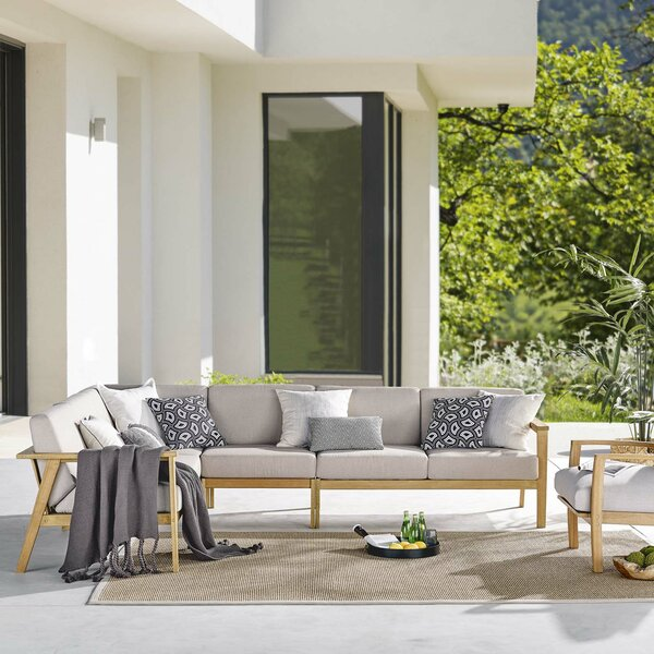 Daenerys Patio Sectional with Cushion by Brayden Studio Brayden Studio