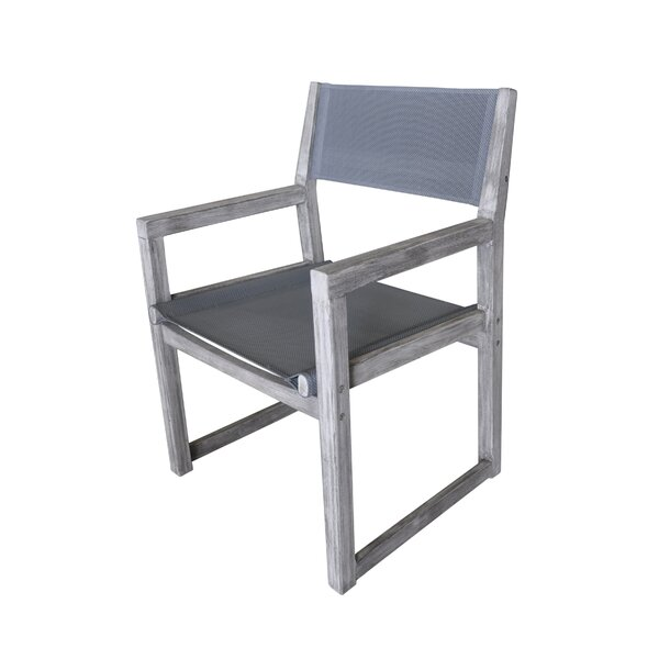 Joanne Teak Patio Dining Chair by Gracie Oaks