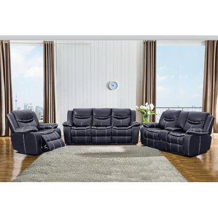 Jary 3 Piece Faux Leather Reclining Living Room Set by Latitude Run®