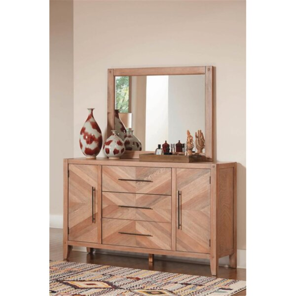 Plainville 3 Drawer Combo Dresser With Mirror By Foundry Select by Foundry Select Find