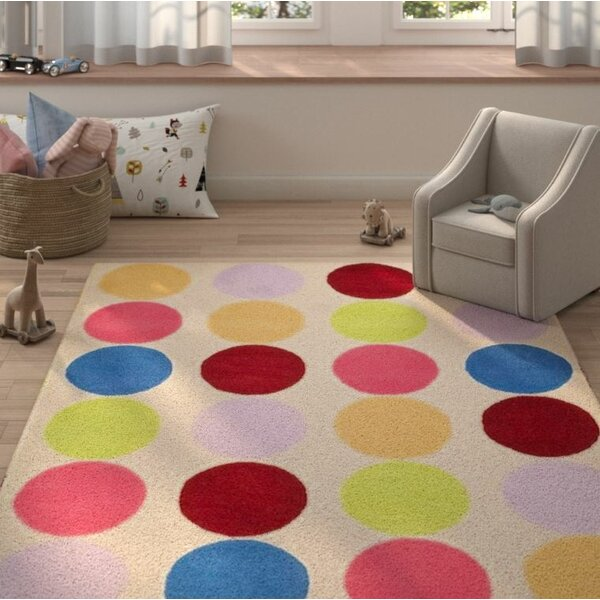 Claro Polka Dot Area Rug by Harriet Bee
