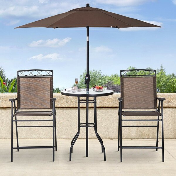 Knute 4 Piece Bistro Set with Umbrella by Freeport Park
