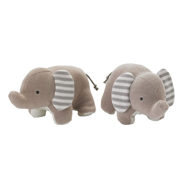 Naruti Knit Elephants Friends Book Ends (Set of 2) by Lolli Living
