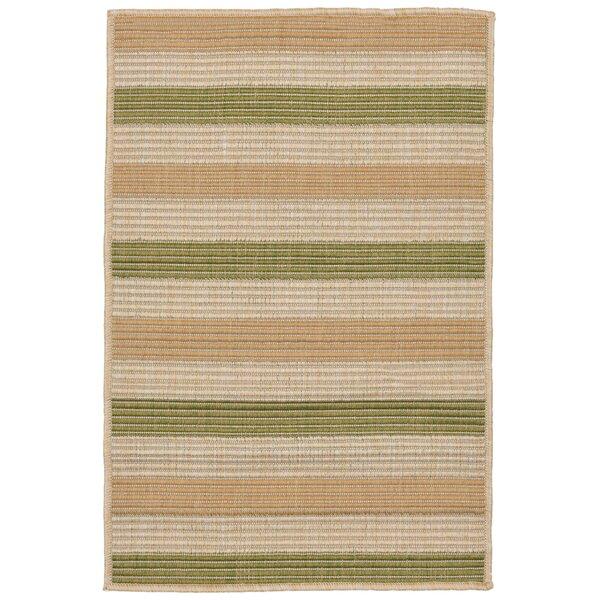 Lambert Multi Stripe Green Indoor/Outdoor Area Rug by Bay Isle Home