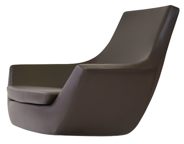 Creager Leather Lounge Chair by Orren Ellis
