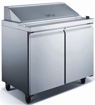 Commercial Food Prepare Table 9.6 cu. ft. Energy Star Counter Depth All-Refrigerator by EQ Kitchen Line