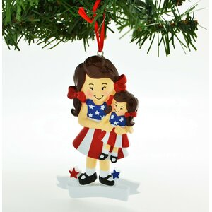 Personalized Christmas Ornament American Girl Doll Hanging Figurine