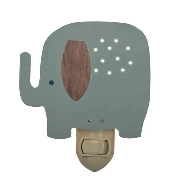 Elephant Night Light by Tree by Kerri Lee