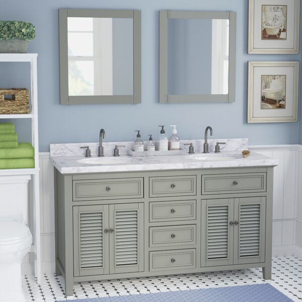 Braselton Solid Wood 61 Single Bathroom Vanity Set with Mirror by Laurel Foundry Modern Farmhouse