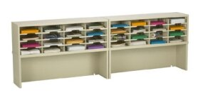 32 Pocket Mail Sorter with Closed Riser by Charnstrom