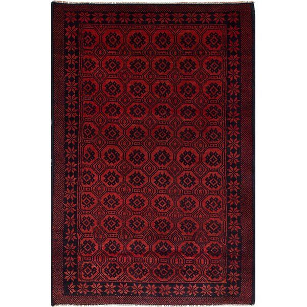 One-of-a-Kind Alana Hand-Knotted Wool Dark Copper Area Rug by Isabelline