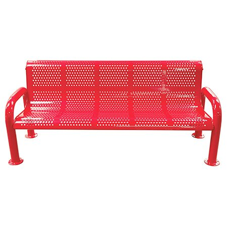 U-Leg Perforated Metal Park Bench by Leisure Craft