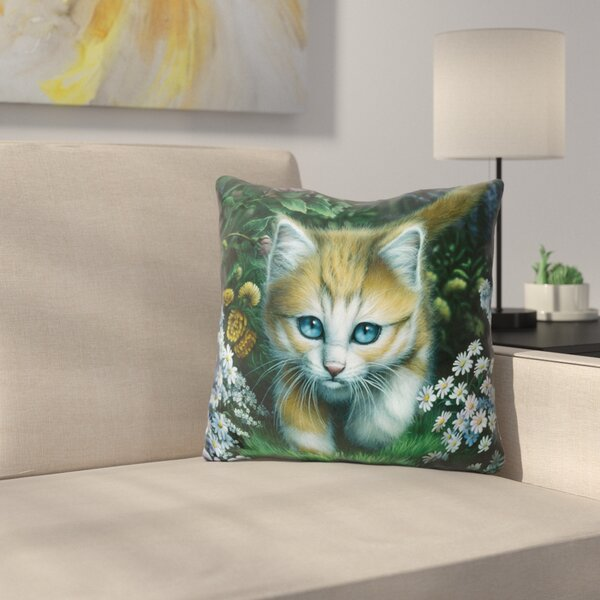 Buttercup Throw Pillow by East Urban Home