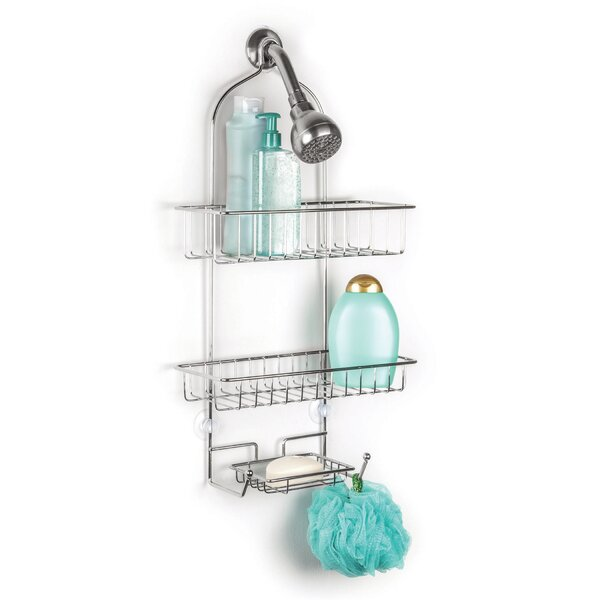 Xander Over the Shower 2 Tier Deluxe Shower Caddy with Soap Dish by Rebrilliant