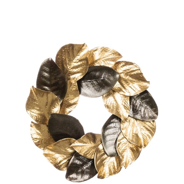 Magnolia Leaf Accent Ring 14 Plastic Wreath by The Holiday Aisle