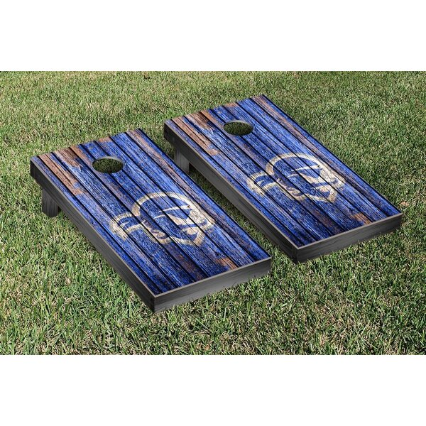 NCAA Weathered Wooden Cornhole Game Set by Victory Tailgate