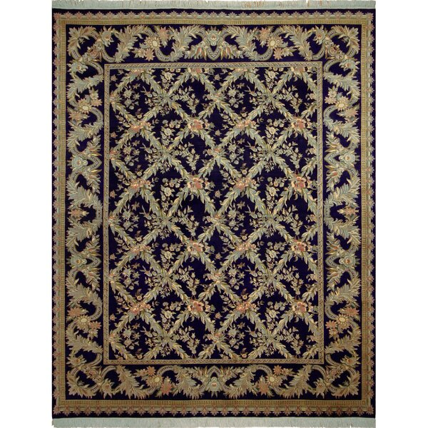One-of-a-Kind Delron Hand-Knotted Wool Blue/Gray Area Rug by Astoria Grand