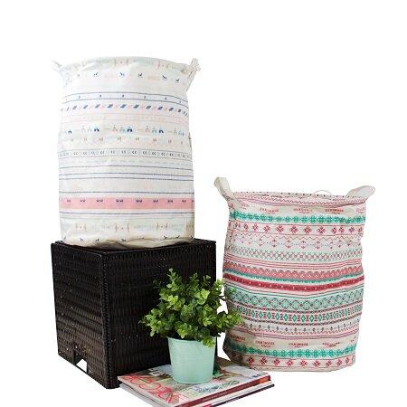 Drawstring Top Laundry Hamper (Set of 2) by Viv + Rae
