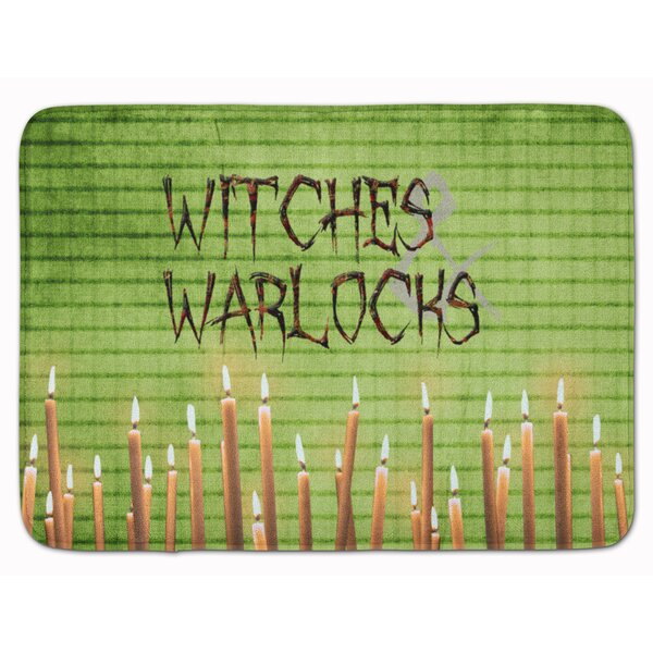 Eila Witches and Warlocks Rectangle Microfiber Non-Slip Bath Rug