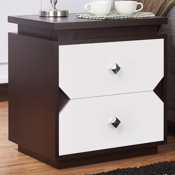 Allee Block 2 Drawer End Table By Ivy Bronx