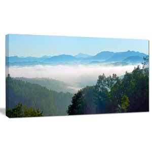 'Morning in Blue Ridge Parkway' Photographic Print on Wrapped Canvas by Design Art