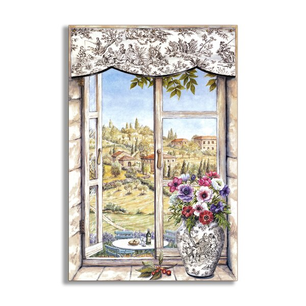 Countryside and Vase Faux Window Scene Wall Plaque by Stupell Industries